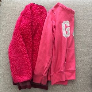 Gap Kids Pink Logo Sweatshirt and Pink Sweater